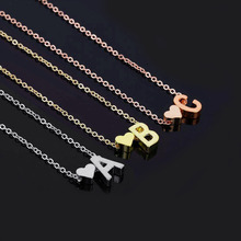 цена Fashion Love Name Jewelry Initial Pendant Necklace Heart Letter Necklace for Girl Friend Women Accessories Gift в интернет-магазинах