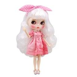 ICY DBS lalki Blyth 1/6 bjd biała skóra wspólne body biały miękkie loki nowy matowy twarz z brwi Lip połysk sd wysokiej jakości zabawki