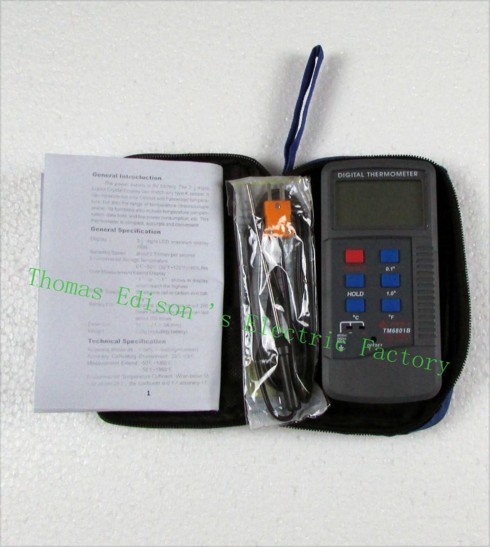TM6801B digital <font><b>thermometer</b></font> <font><b>thermometer</b></font> with high accuracy, capable of measuring high temperature meter