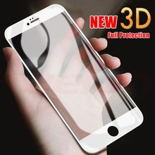 2pcs/Lot Full Cover 3D Edge Tempered Glass For iPhone 11 Pro X XS MAX XR 7 8 6 6s Plus Screen Protector Film Protection(China)