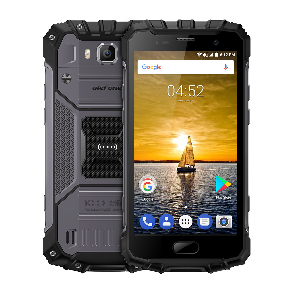 Ulefone Armor 2 IP68 Waterproof Smartphone 5.0'' MTK6757 Octa Core Android 7.0 6GB RAM 64GB ROM 16MP Camera 4G LTE Mobile Phone