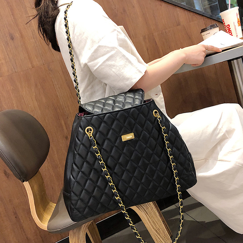 Female Crossbody Bag For Women 2019 Quality PU Leather Luxury Handbags Designer Sac A Main Ladies Lattice Shoulder Messenger Bag in Shoulder Bags from Luggage Bags
