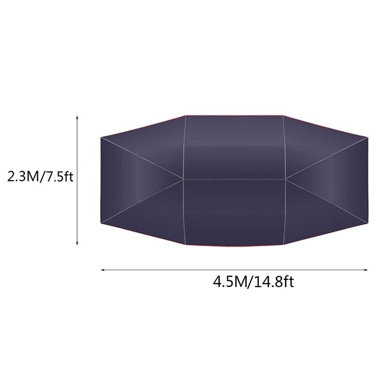 4.5x2.3M nouvelle voiture extérieure véhicule tente voiture parapluie soleil ombre couverture Oxford tissu Polyester couvre sans support - 3