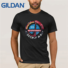 Gildan Brand Interkosmos Russia CCCP RDA V01 Space Exploration Program T-Shirt Summer Mens Short Sleeve