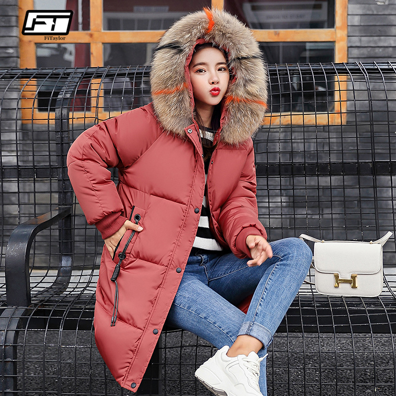 Fitaylor Winter Jacket Coat Women Hooded   Parka   Casual Long Thick Warm Coat Female Large Fur Collar Plus Size 3xl Female Outwear