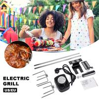 Outdoor BBQ Flip Grill Stainless Steel Home Roasting Grill Automatically Flipping Shelf Barbecue Grill Rolling Skewers Tools
