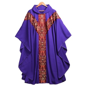 Image 5 - Priest Catholic Church Robe Archbishop Clergy Vestments with Stole Pope Chasuble Costume