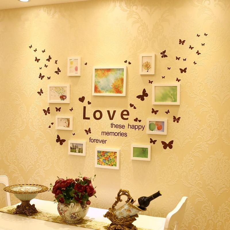 10 teile/satz Wand Foto Rahmen Set Hause Dekorative Hochzeit Foto ...