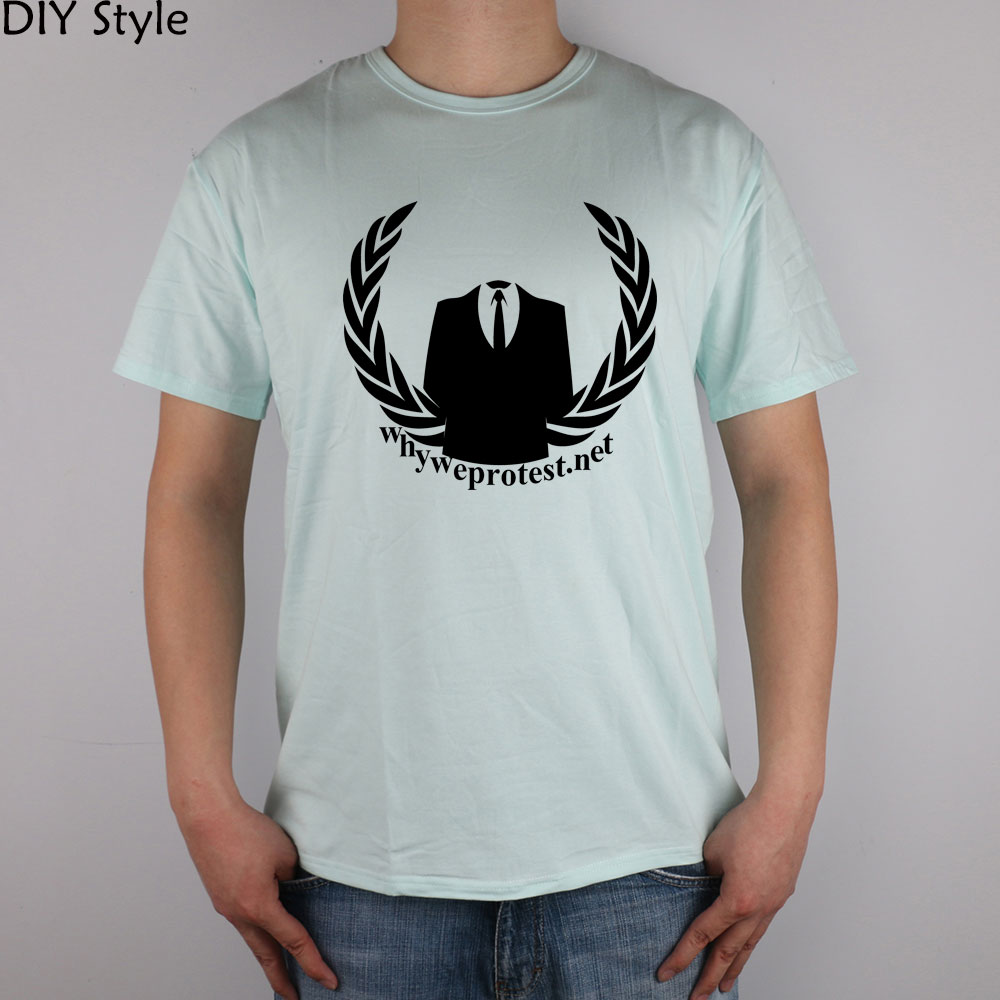Anonymous Why We <font><b>Protest</b></font> Net t-shirt Top Lycra Cotton Men T Shirt image