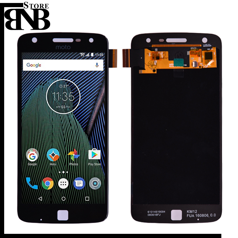 For Motorola Moto Z Play <font><b>XT1635</b></font> LCD Display and Touch <font><b>Screen</b></font> Digitizer Assembly 5.5'' Full LCD 1920x1080 lcd image