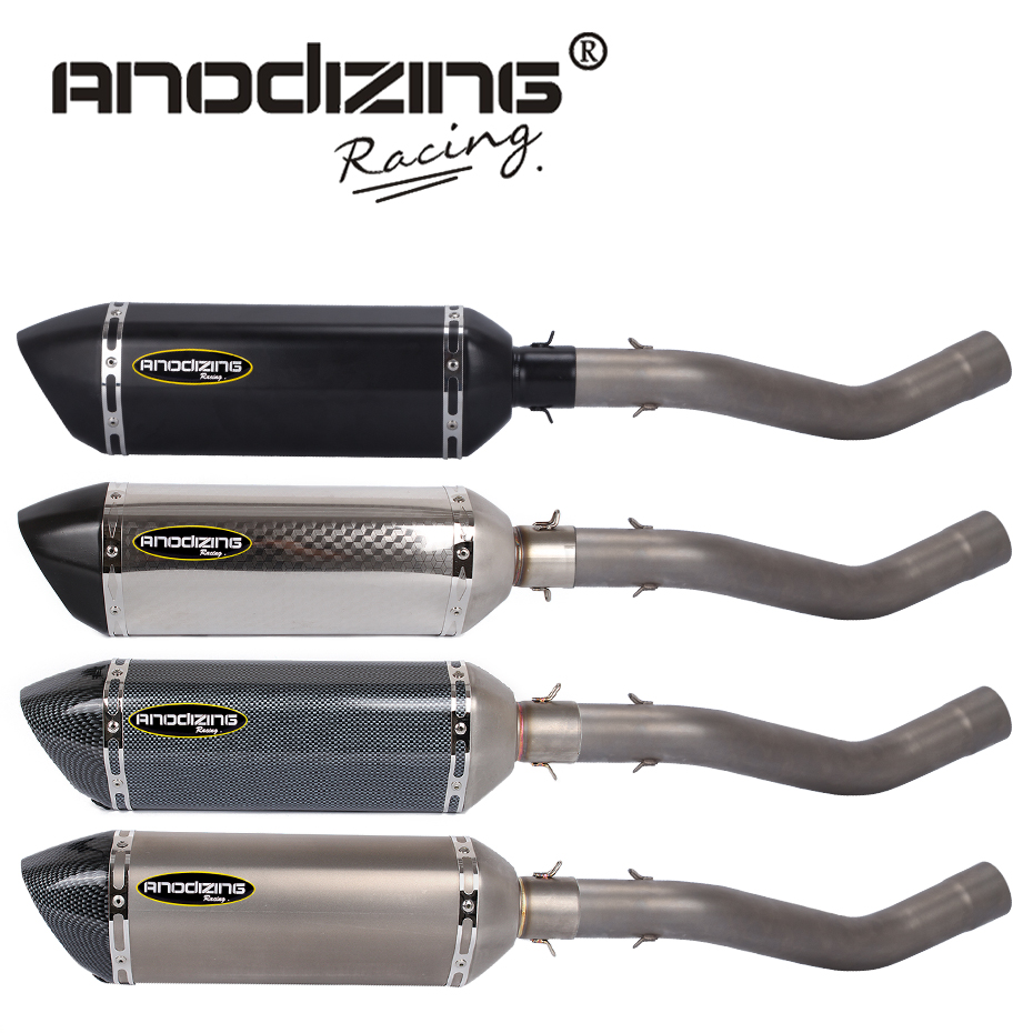 Slip on FOR KAWASAKI ZX6R ZX-6R 2009-2014 Link Pipe Stainless Steel carbon fiber Exhaust Muffler Silence Set Link Middle Pipe motorcycle link pipe stainless steel carbon fiber exhaust muffler silence set link middle pipe for yamaha r1 2009 2014 slip on