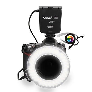 Prix pour Aputure HN100 CRI 95 + Amaran Halo LED Flash Annulaire lumière Pour Nikon D5200 D7000 D7100 D5100 D3200 D800E D800 D700 D600 D90 caméra