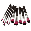10 PCS Estilo Kabuki Professional Make up Brush Set Fundação Blush Pó Facial Brushes