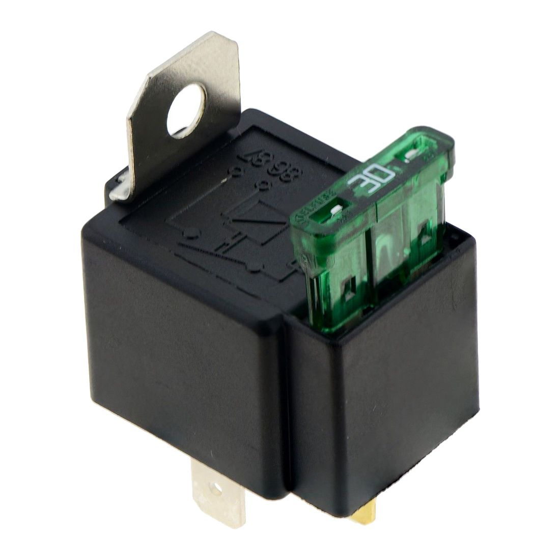 цена на THGS Fused On/Off Automotive Fused Relay 12V 30A 4-Pin Normally Open Car Bike,black