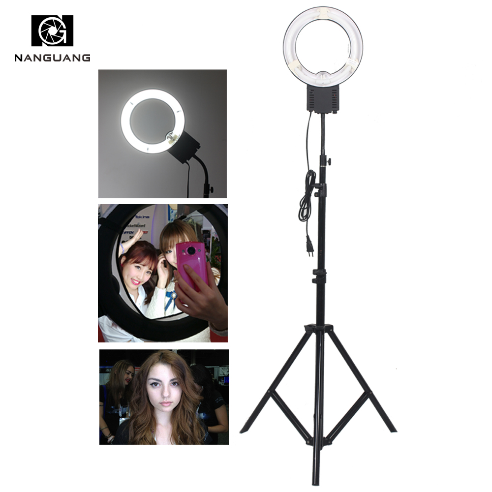 28W Ring Fluorescent Photo Lamp Ring Photo Video Light+ 200cm Light Stand for Make up Selfie light and Photo Portrait Lighting цена