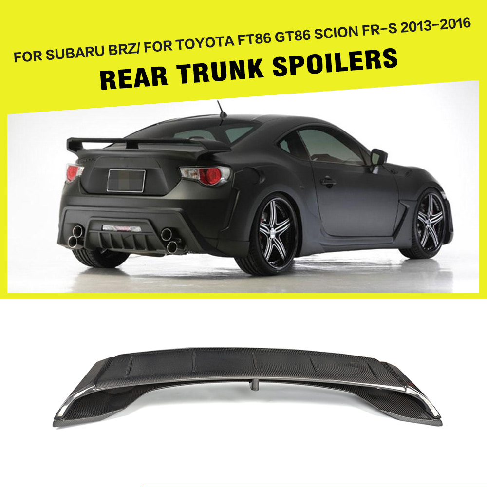 Online buy wholesale spoiler subaru from china spoiler subaru carbon fiber rear trunk spoiler lip wing for toyota gt86 ft86 for subaru brz frs vanachro Gallery