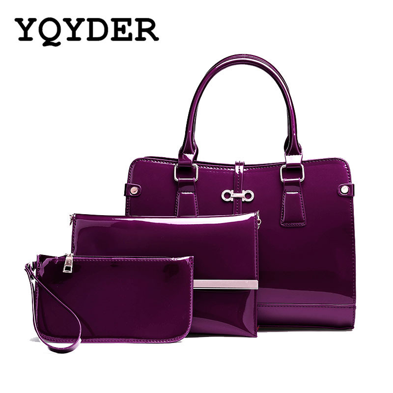 Fashion Women Bags Bright PU Leather Shoulder Bags Ladies Patent Crossbody Bag Brand Luxury Handbags Casual Tote Bags Sac A Main aou new women classic bag brand chains bags women s fashion shoulder bag red celebrity crossbody bag sac a main china gift