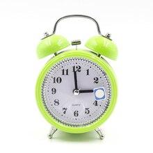 f987770c9b2 Clássico Silencioso de Cabeceira de Metal Duplo Alarme Sino do Relógio  Movimento de Quartzo w