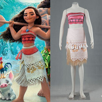 Movie Moana Polynesia Princess Moana Cosplay Costume Carnival Christmas Halloween Costumes Dress With Custom Made