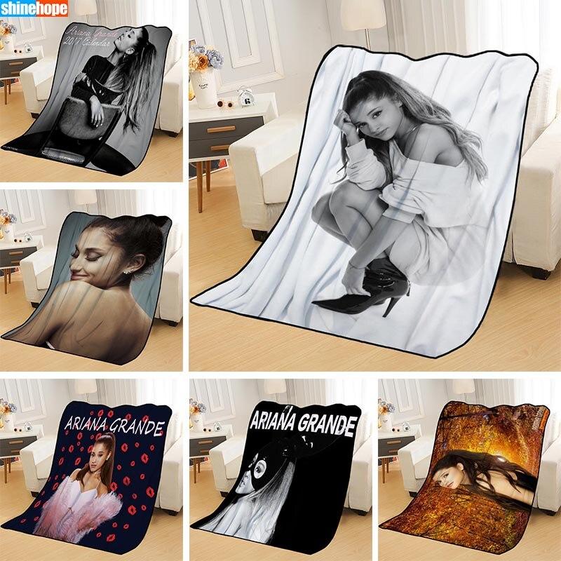 Couvertures personnalisées personnalisé Ariana Grande couvertures doux TR bricolage votre photo décoration chambre jeter tapis couverture de voyage