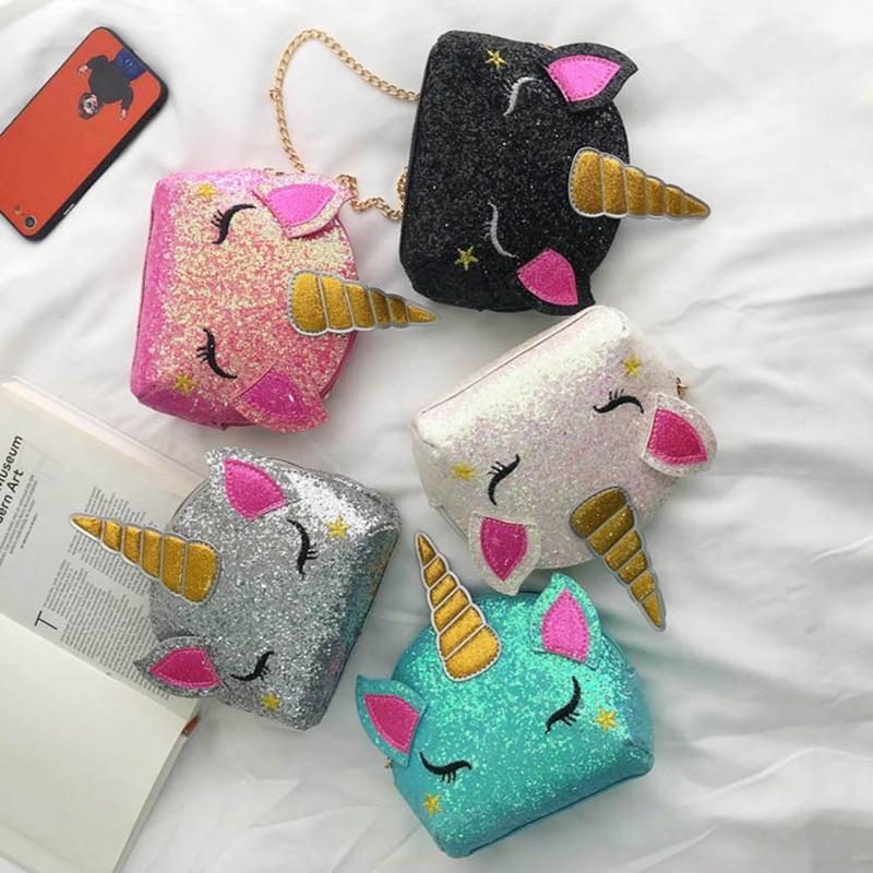 Unicorn Backpack Book-Bag Sequins Teenager Girls Mini Student Fashion Women Travel New