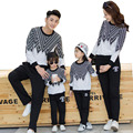 Family Look 2017 Spring Autumn Geometric Stripe Family Clothing Mother Daughter Father Boy Clothes Pants Family Matching Outfits