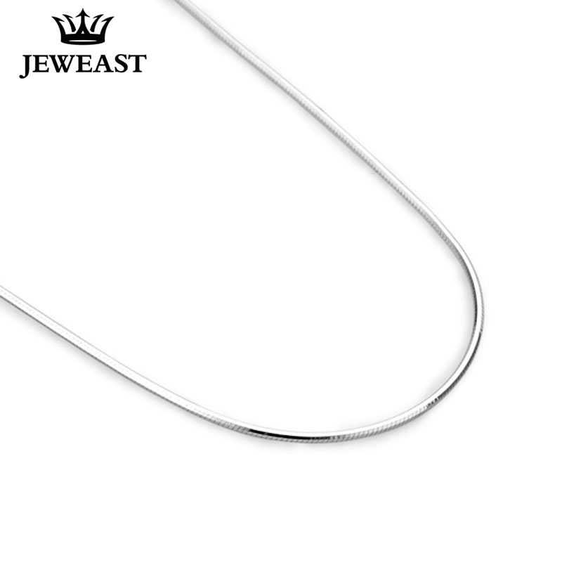 925 Sterling Silver Women Snake Necklace Slim Thin Collarbone Chain For Pendant Men Unisex Trendy Party girl Gift Good Hot Sale