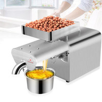 220v/110v heat cold pinenut walnut hazelnut oil press machine peanut cooking making machine