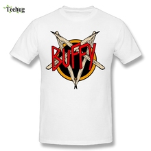 Popular Male The Slayer Buffy T Shirts O-neck Design Homme Tee For Young Man