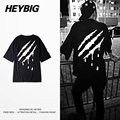 Blood Drop Back Print Tee Korean Street Fashion SUA T-shirt Heybig Brand Clothing Men Hiphop t shirts China Sizing Customization