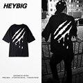 Gota de sangre atrás imprimir tee calle coreana de moda de sua t-shirt heybig marca clothing hombres hiphop camisetas de china la personalización de tamaño,
