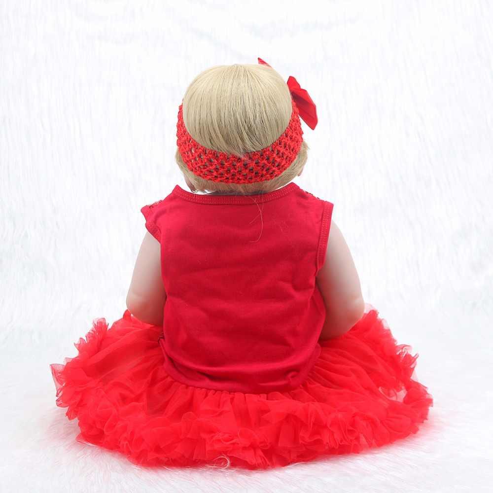 55 см мягкие силиконовые куклы Reborn Baby Реалистичная кукла Пупс 22 дюймов полный винил Boneca Baby Reborn кукла для девочек