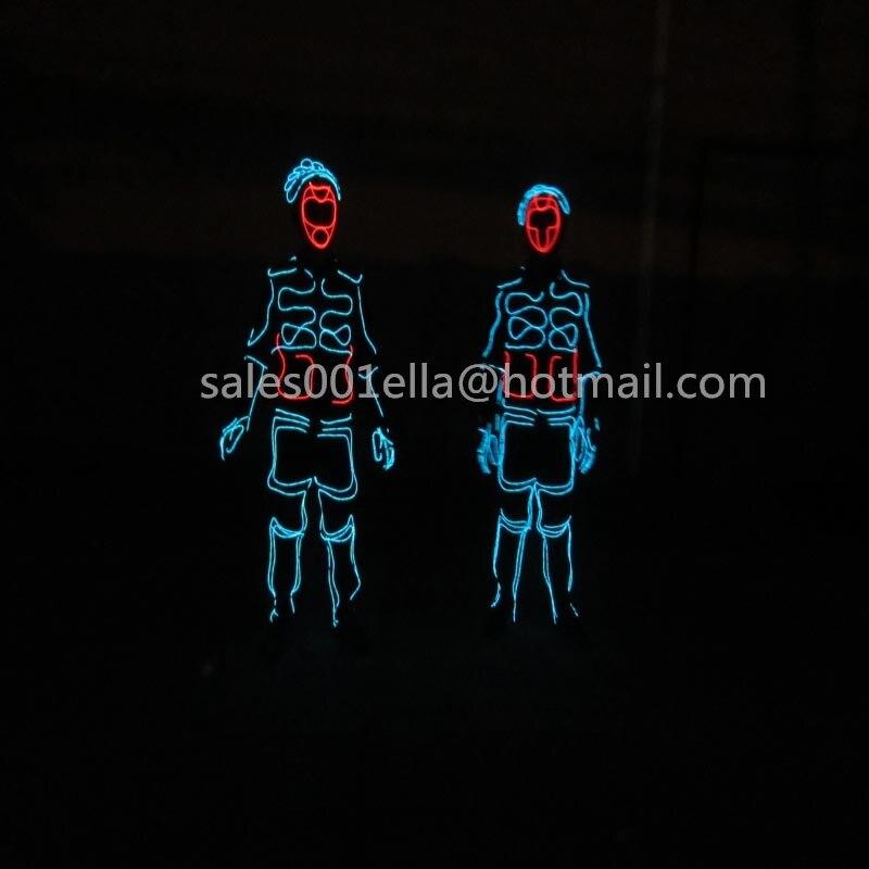 Llegó EL nuevo LED de luz fría EL Wire ropa festiva fuentes del partido luminosa