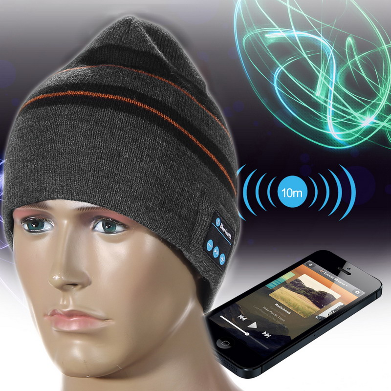 Fashion 2018 Beanie Hat Wireless Bluetooth Earphone Smart Headset Headphone Speaker Mic Winter Outdoor Sport Stereo Music Hat wireless bluetooth music beanie cap stereo headset to answer the call of hat speaker mic knitted cap