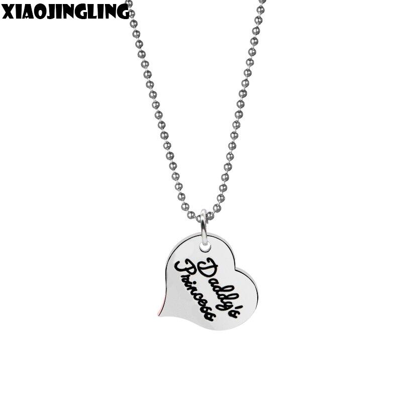 XIAOJINGLING 50cm Link Chain Necklace Daddy's Princess Pendas