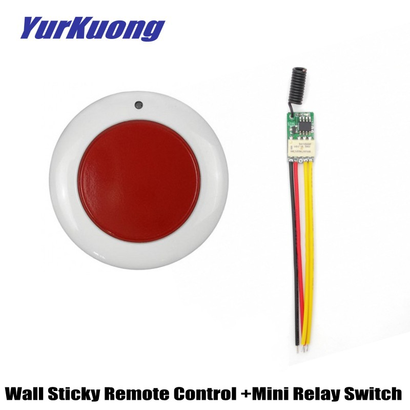 Mini Round Sticky Remote Control Emergency Button Wireless Switch Door Access Opener Trigger button Remote Switch Door Bell 433Mini Round Sticky Remote Control Emergency Button Wireless Switch Door Access Opener Trigger button Remote Switch Door Bell 433