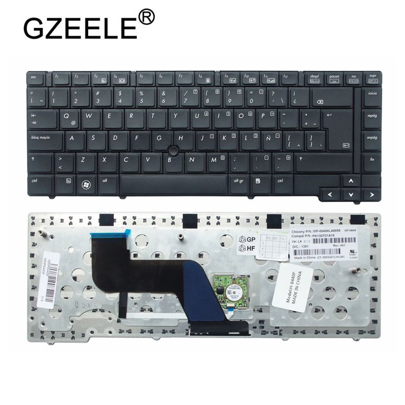 GZEELE New Keyboard for HP EliteBook 8440P 8440W Laptop BLACK LA Laptop / Notebook QWERTY GZEELE New Keyboard for HP EliteBook 8440P 8440W Laptop BLACK LA Laptop / Notebook QWERTY