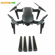 лучшая цена Sunnylife DJI Mavic Air Drone Landing Gear Skid 3D Printed Landing Leg 7cm Heighted Stabilizer 4pcs for Mavic Air Accessories