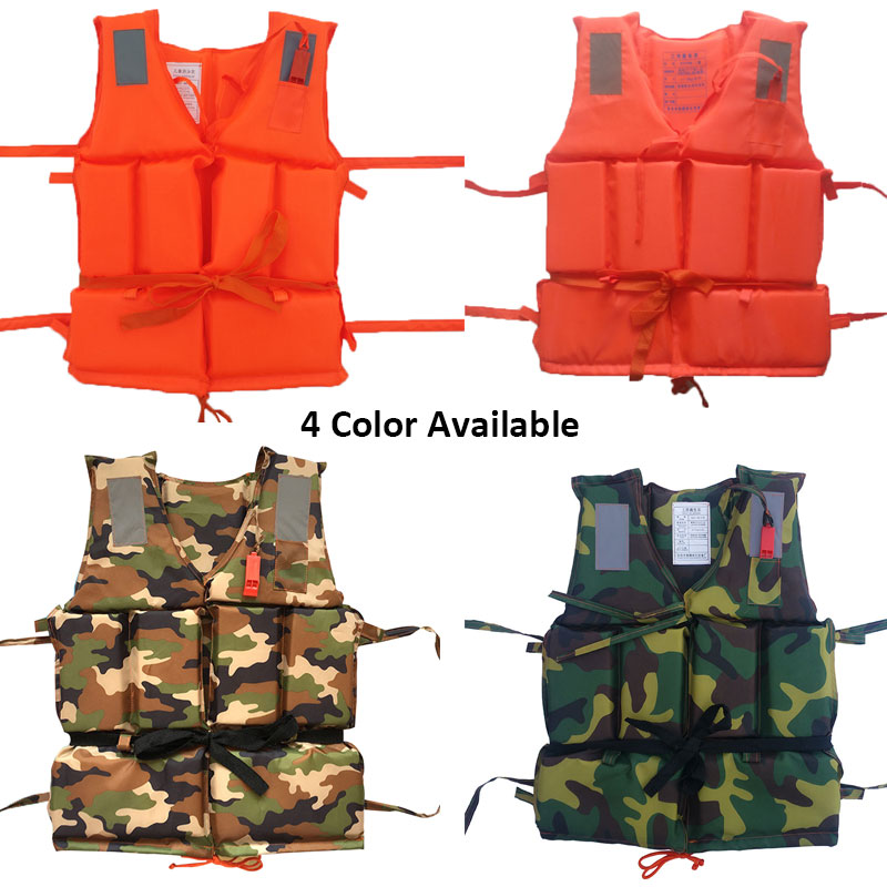 Professional Kids Adult Men Life Jacket Buoyancy Life Vest Swimming Boating Safety Women Survival Life Vest Whistling Drifting C