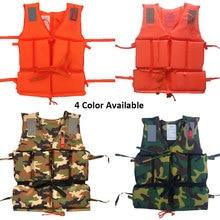 Professional Kids Adult Men Life Jacket Buoyancy Vest Swimming Boating Safety Women Survival Whistling Drifting C