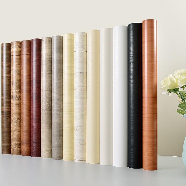 5m/10m waterproof pvc vinyl wood grain self adhesive wallpaper