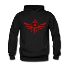 Game The Legend of Zelda Triforce Logo Hoodie Zelda Hooded Sweatshirt Link Cotton Pullover for Adult