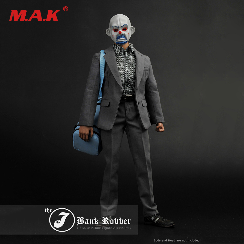 1/6 Scale Batman The Dark Knight Joker The J Bank Robber Suits Clothes F 12 Male Action Figure купить