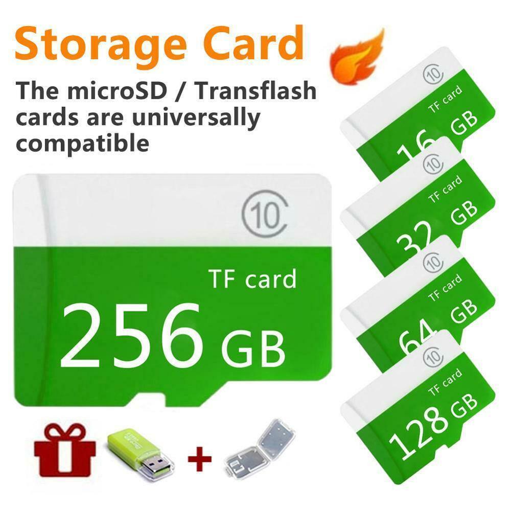 Высокоскоростная зеленая карта памяти большой емкости Mi cro-SD Mi cro 4 ГБ 8 ГБ 16 ГБ 32 ГБ 64 ГБ 128 ГБ 256 ГБ 512 Гб класс 10 + Sd-Tf для мобильных телефонов/ПК ...