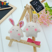 Wholesale 100pcs cartoon rabbit doll mobile phone key chain pendant accessories plush toy wedding birthday party gift Triver Toy