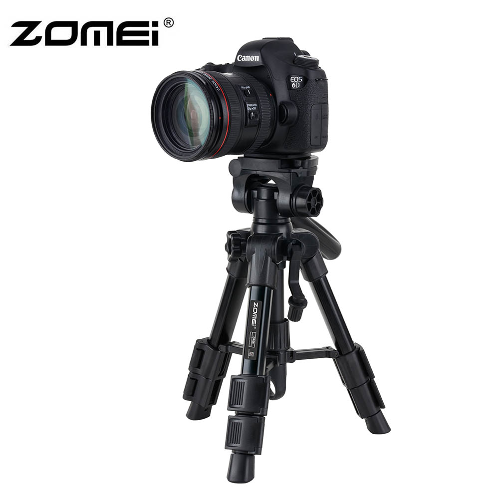 Zomei Q100 20 3-way Fluid Head Mini Table Top Tripod for Canon Nikon Sony Pentax SLR DSLR Camera Camcorder with Carrying Bag