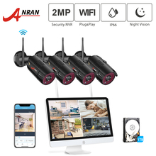 ANRAN 1080P 4CH Home Security Camera System Waterproof Outdoor Night Vision WiFi IP Camera with 15 Inch Monitor 1TB HDD NVR Kits anran hdmi 4ch wifi nvr 7 lcd monitor 720p ip66 dome waterproof wireless 30ir outdoor day night home security ip camera system