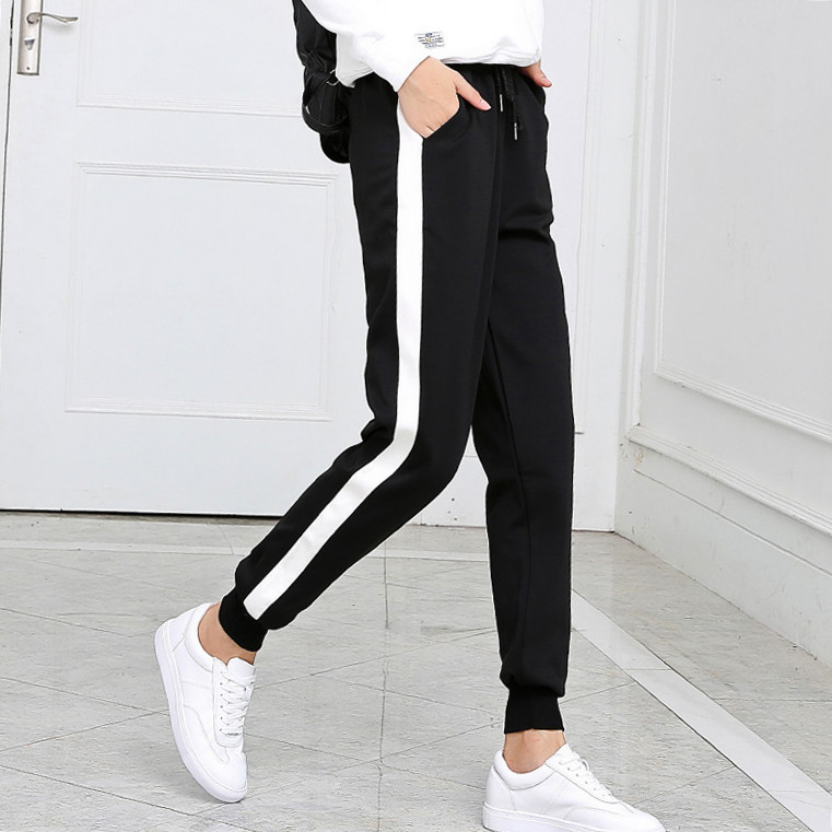 women Leggings S-XXL Trousers Drawstring Wide Leg Pants Women Bottoms Pantalon Femme Loose Striped Fashion Harem Pants Women