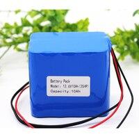 KLUOSI 12V Battery 3S4P 11.1V/12.6V 10Ah 18650 Lithium Ion Battery Pack with 25A Balanced BMS for LED Lamp Light Backup Power