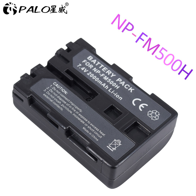 Palo 1Pc High Quality NPFM500H NP-FM500H NP FM500H Camera Battery For Sony A57 A58 A65 A77 A99 A550 A560 A580 Battery NP-FM500H